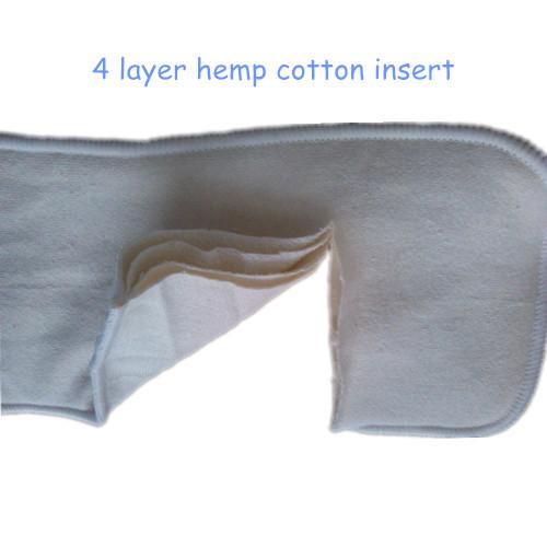 4 Layer Organic Hemp Cotton Insert baby Cloth Diaper nappy, 55% hemp, 45% orgac1 - Gogreen2014 store