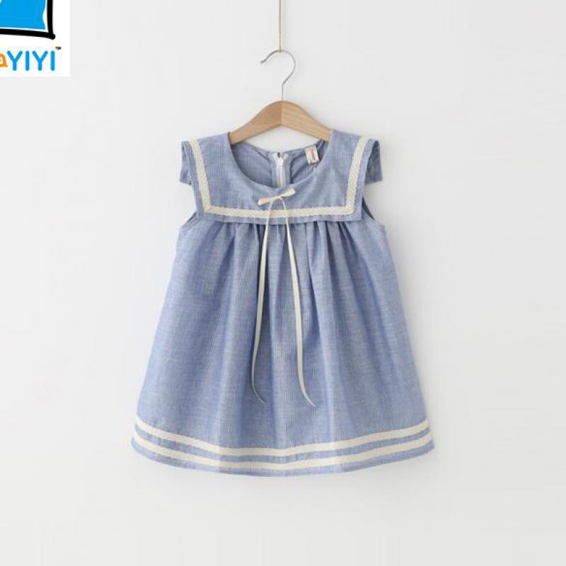 2016 Brand New Mini Dresses Girls Sleeveless 3-12Y Kids Clothes Children Clothing Girls Summer Fashion Kids Dress Vetement Fille(China (Mainland))
