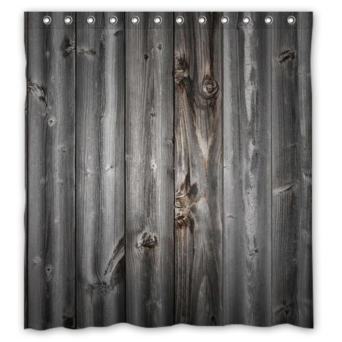 Buy Bbl Vintage Rustic Old Barn Wood Custom Shower Curtain 66 X72 Waterproof