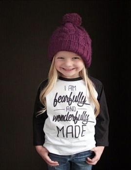 kids t shirt 2016 Baby Girls Letter Print T-Shirt Toddler Long Sleeve tops Blouse cotton girls clothing