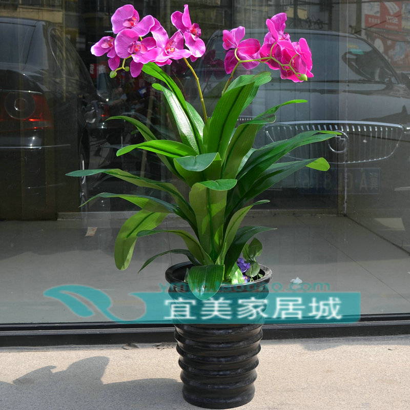 High Artificial Plants Bonsai Plastic Artificial Flower Fake Tree Artificial Flower Living Room