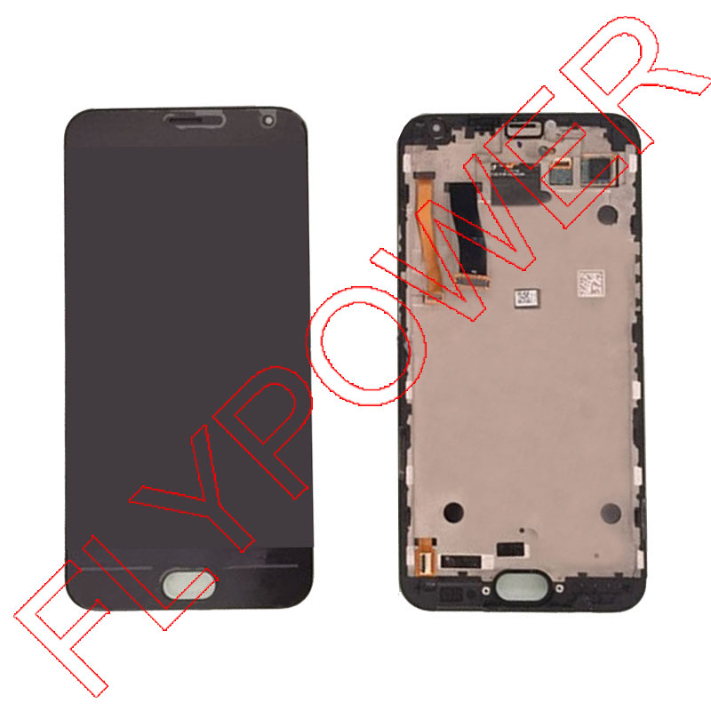 For MEIZU Mx5 LCD Screen Display with Touch Screen Digitizer with Frame assembly  Black color by free shipping