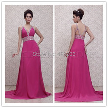 Exquisite Evening Dresses With V Neckline Sheer Straps Sequin Fold Court Train Floor Length Prom Party Dresses Custom Made