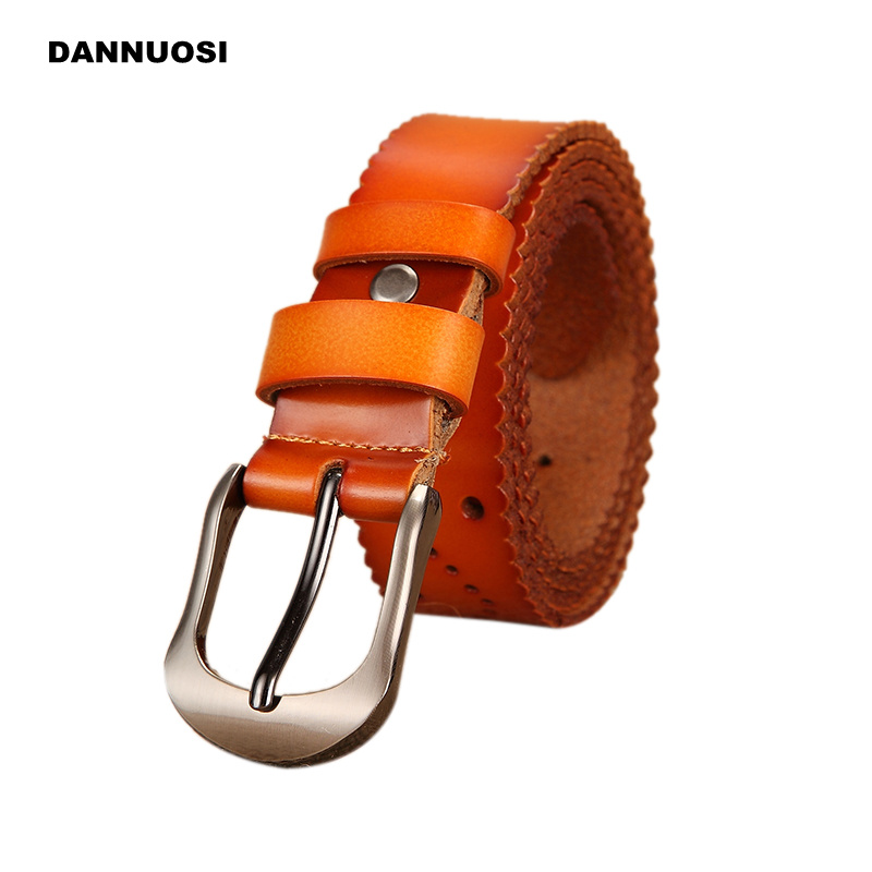 [DANNUOSI] Ms. fashion leather belt wild 2016 new high-quality women's casual 100% pure leather belt decorative belt Brand(China (Mainland))