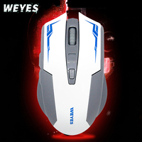 WEYES USB Computer Gaming Wireless Mouse For PC Laptop Built-in Rechargeable Battery With Charging Cable