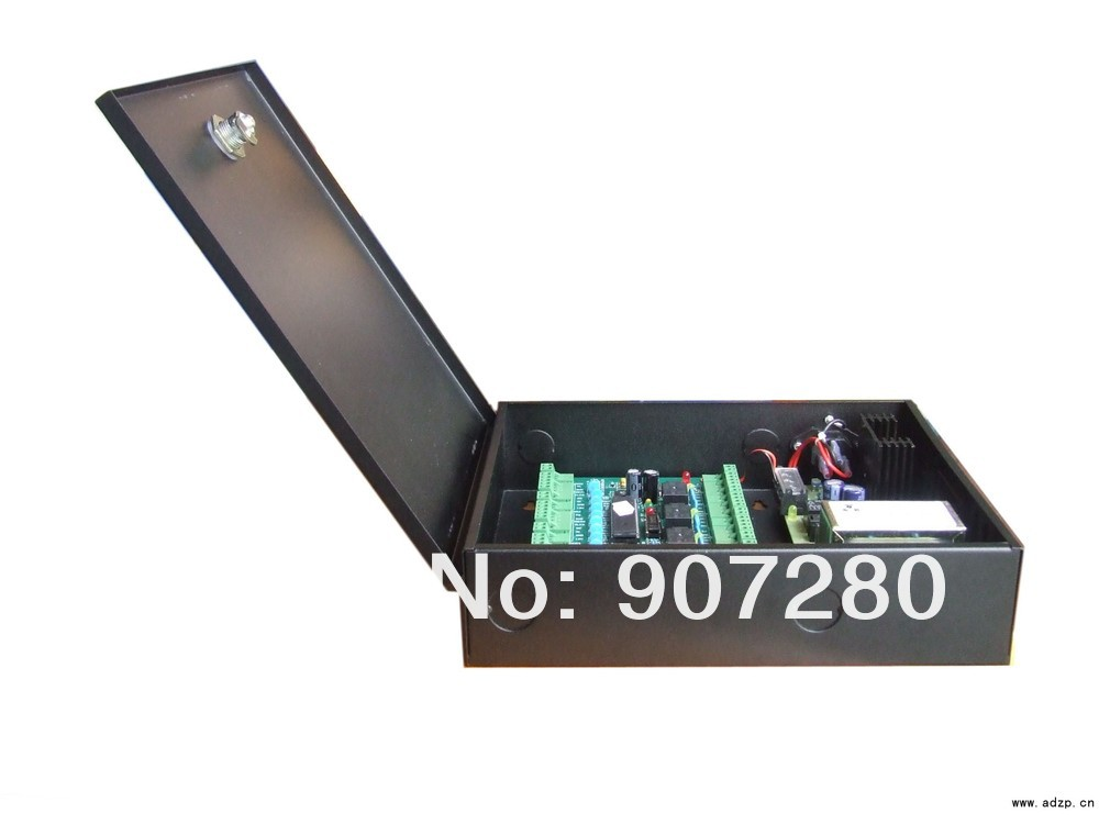 Wholesale 32bit CPU TCP/IP Four Door Single Way Access Control Panel + Power Supply Box<br><br>Aliexpress