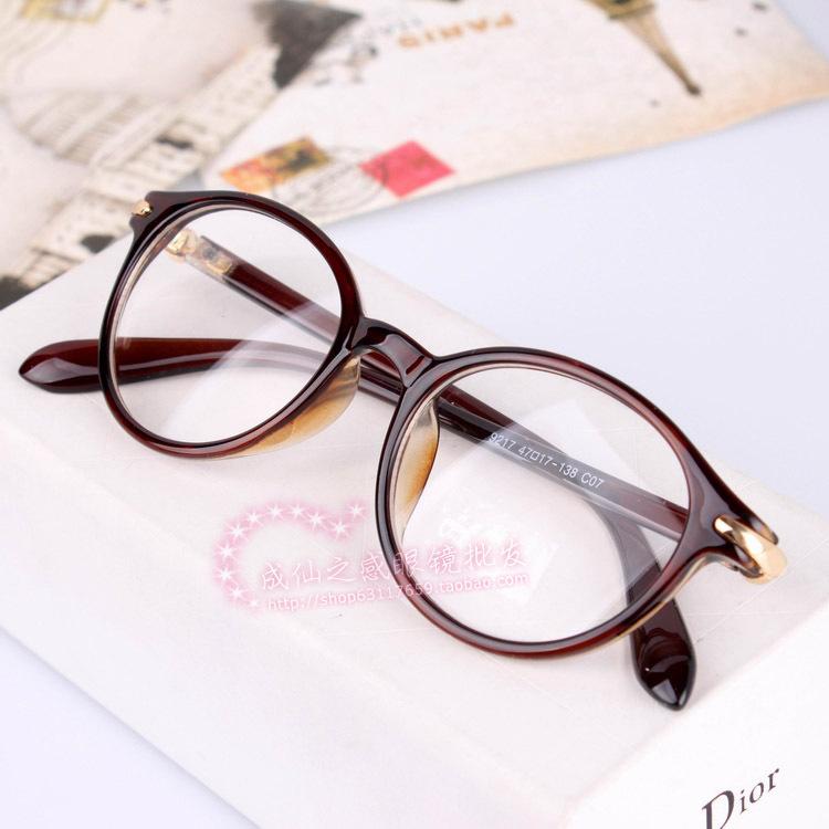 new vintage glasses plain glasses myopia eyeglasses frame fashion optical glasses free shipping oculos de grau femininos A0010(China (Mainland))