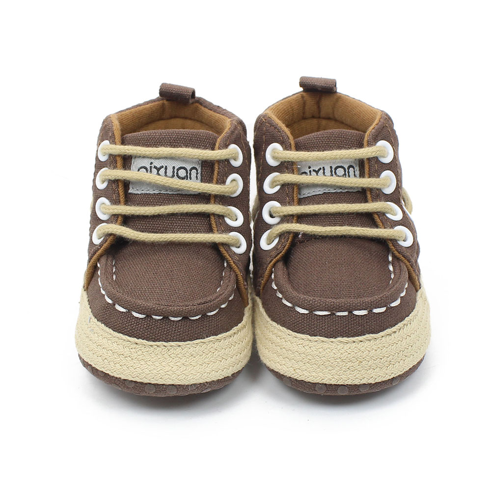 Super Soft Baby Shoes New Canvas Lace-up Baby Boy Shoes 2016 Newborn Fashion Sport Style Design Lower Price Wholesale(China (Mainland))