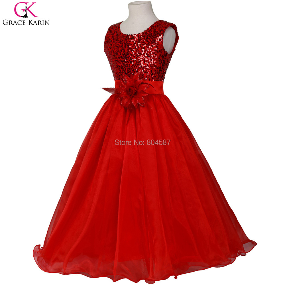 Red White And Blue Flower Girl Dresses Wedding Guest Dresses