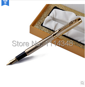 Delivery is free of charge.Picasso PS933 Golden Fountain Pen Avignon series students practice calligraphy pen(China (Mainland))