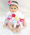 Lovely Girl doll reborn 22 silicone reborn babies soft cotton body children girls doll toys bebe