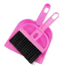 """Hot Sale New 7.5cm/2.95"""" Office Home Car Cleaning Mini Whisk Broom Dustpan Set Random Color(China (Mainland))"""