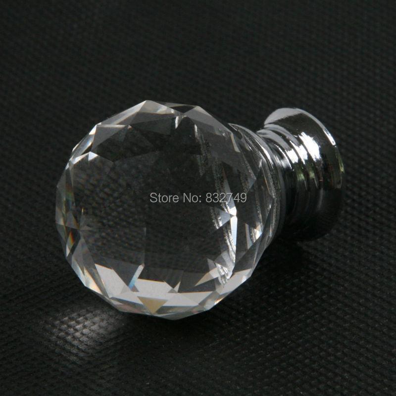 4 Pcs 40 mm Diamond Ball Crystal Cabinet Knobs and Handle Crystal Glass Door Handle Knob