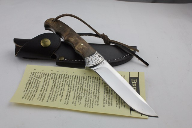 Buy 58HRC 7Cr17mov Outdoor camping tool shadow wood small hunting fixed blade knife cheap