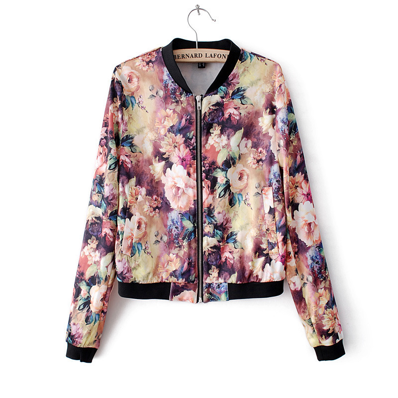 2014 Autumn Summer women slim short floral jacket UK with ...