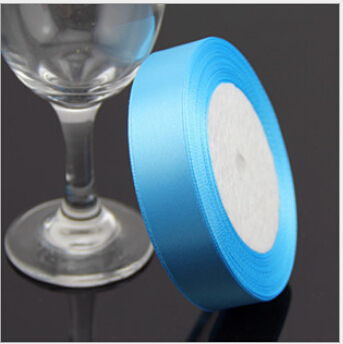 3/4 inch (20mm) single face Satin Ribbon 25yds blue webbing Wedding decoration Z001 - Fang Decorative Accessories Stores store
