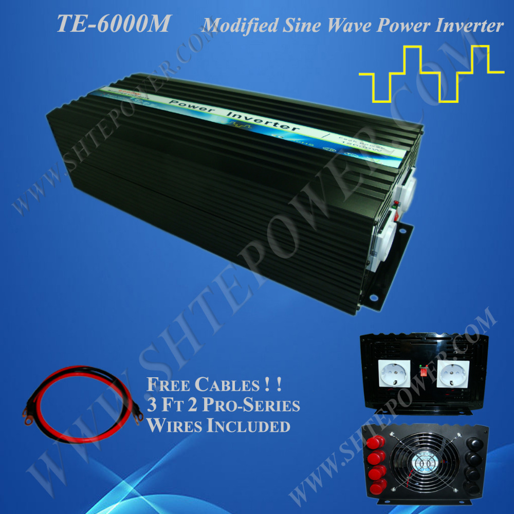 Solar and wind hybrid inverter 6000W 48V, modified sine wave inverter, 48V home solar wind power invertor(China (Mainland))
