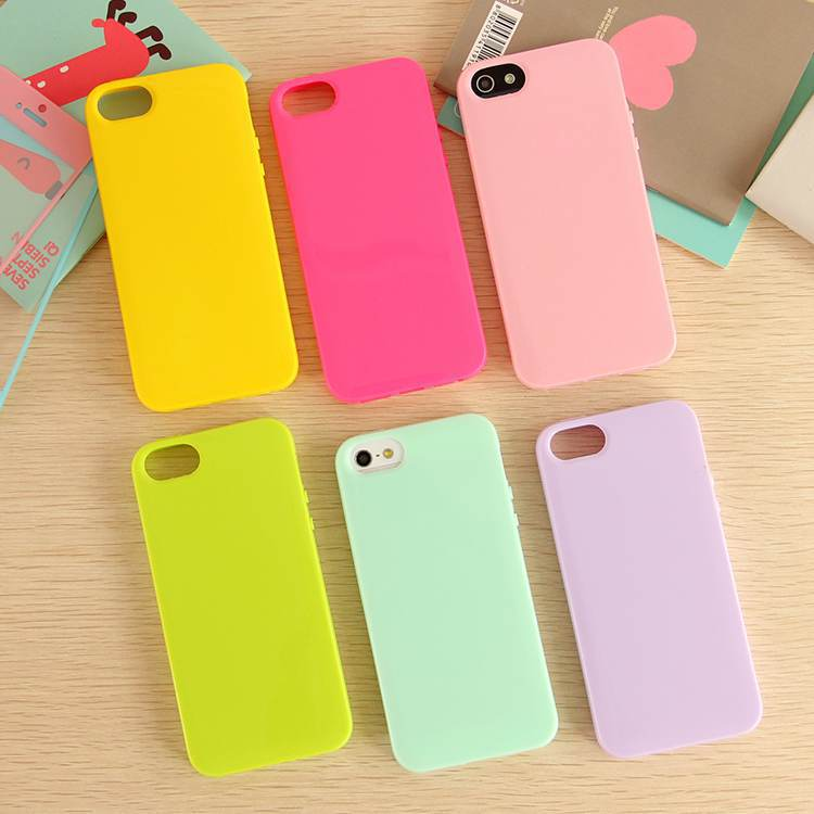 Solid Candy Color TPU Skin Cover Case for Apple iPhone 5 5G 5S Soft Gel Rubber Cell Phone Bag 15 Col