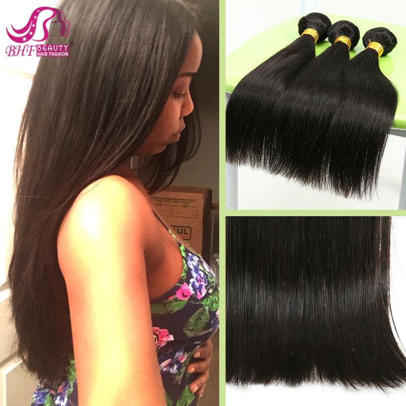 Ali-Beauty Fashion brazilian virgin hair straight 3/4pc 12-26 top virgin brazilian straight hair free shipping very soft<br><br>Aliexpress