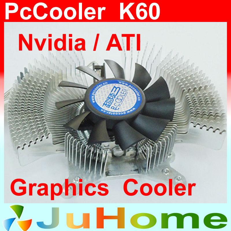 all-aluminum 6cm fan, Multiporous graphics card heatsink, VGA fan, VGA Cooler, VGA Cooling graphics Cooler, PcCooler K60(China (Mainland))