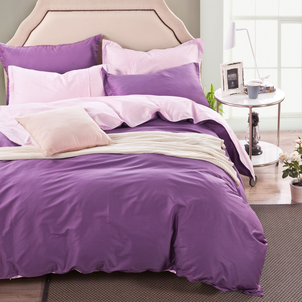 2015Home textiles,luxury solid color High quality cotton adult King size comforter bedlinen Duvet Cover Bedding set bed covers(China (Mainland))