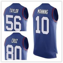 Men's #10 Eli Manning #56 Lawrence Taylor #80 Victor Cruz Limited Tank Top Jerseys!(China (Mainland))