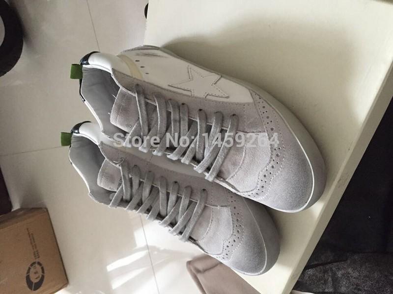 Golden Goose 2015 Christmas Deals Original mid star white Scarpe ggdb Genuine Leather Scarpe Men Women Shoes<br>