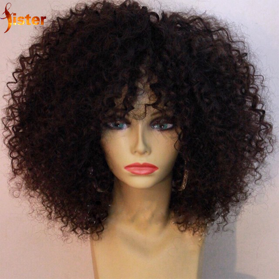 Brazilian Short Human Hair Wigs Best Glueless Lace Front Afro Kinky Curly Wig Short Human Hair Full Lace Wigs With Bleached Knot(China (Mainland))