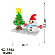 Criadores de DIY mini micro diamante building block bolo feliz aniversário bloco tijolo tijolos brinquedos educativos para crianças presentes(China)
