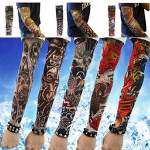 Color Random 1PC Men Fashion Summer Style Temporary Fake Slip On Tattoo Arm Sleeves Kit Colletion Fake Tattoo sleeve(China (Mainland))