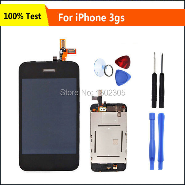 Black LCD Touch Screen Digitizer Assembly Display For iPhone 3GS Replacement Part+Free Repair Tool Kit,Free Shipping(China (Mainland))