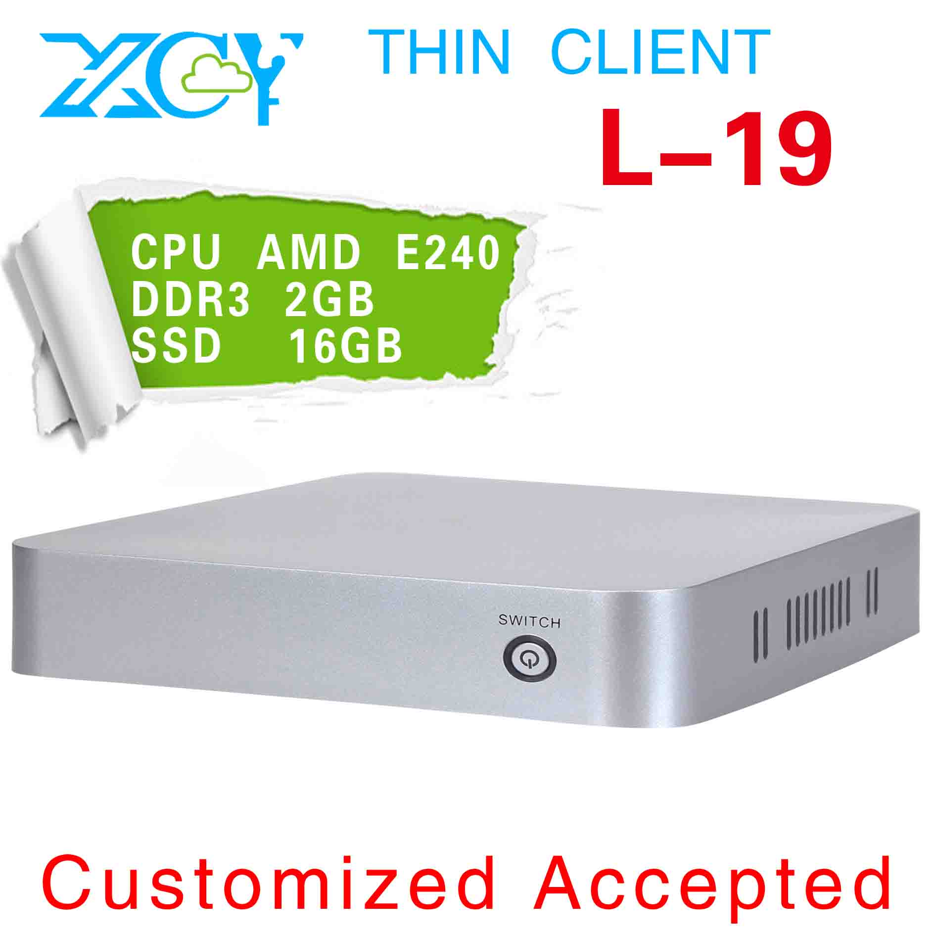 XCY L-19 mini linux computers mini htpc slim pc case ATI Radeon HD 6310 Graphics (512MB/AMD) Graphics Card Type(China (Mainland))