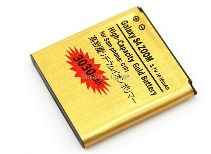 High Capacity Gold Battery Samasung Galaxy S4 Zoom C101 3030mAh B740AC Replacement Cell Phone - SHENZHEN HELIOTION ELECTRONIC TECHNOLOGY CO.,LTD store