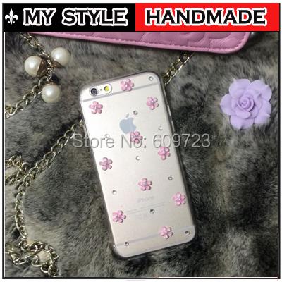 For Nokia Lumia 520 Luxury Rhinestone Small flower Diamond Hard Transparent Case cover(China (Mainland))
