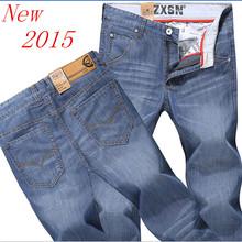 Новое 2015 мужская мода джинсы джинсы для мужчин людей сбывания брюки свободного покроя тонкий прямые брюки бесплатная доставка(China (Mainland))