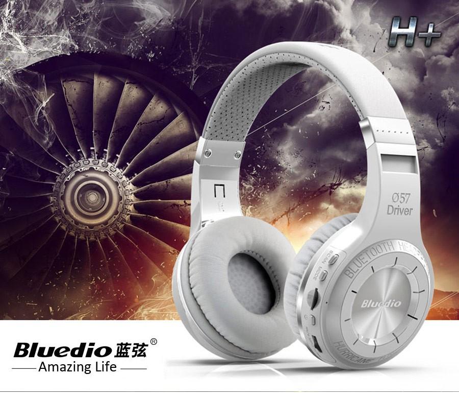 100% Original Bluedio H+ music Headphones Stereo Wireless Bluetooth Headset with Mic Handsfree supports Micro sd card FM Radio
