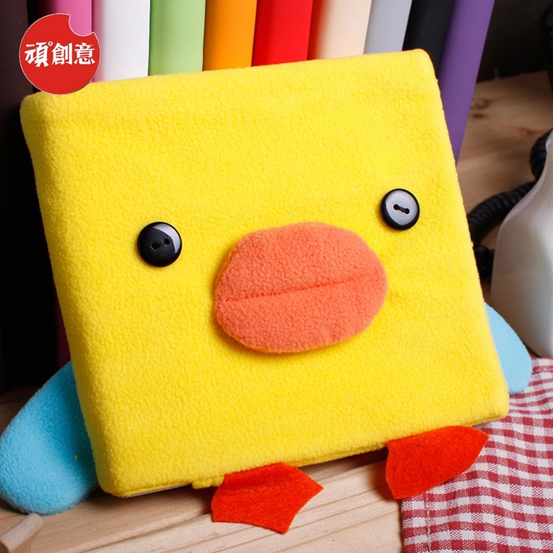 2015 Cute Kawaii Cartoon Duck Velveteen notebook creative trends Notebook Diary Planner Notepad Kids Gift DIY Stationery - Fashion Shop 7 store