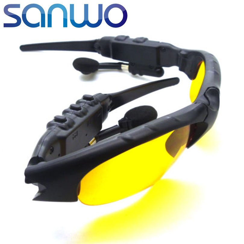Sanwo Brand Hands-free Smart Sun Glasses Wireless Bluetooth Stereo Headset Earph
