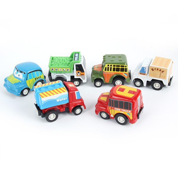 6 pcs/lot Pull Back Toys Car Children Racing Car Baby Learning & Education Toys Cartoon Mini Classic Model Cars Gifts(China (Mainland))