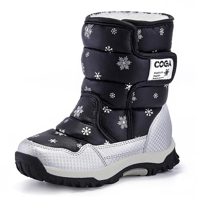 Старшие дети снег сапоги 2016 меха водонепроницаемую поверхность Gaotong теплые kinderen зима schoenen meisjes sapato infantil мальчик обувь