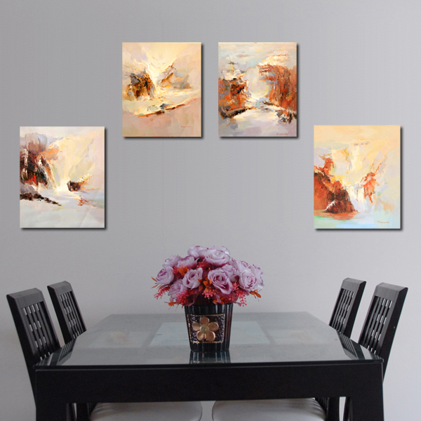Free Shipping Welina Brand Hot Sale 50X60CMX4PCS Oil Paintings Paint By Number Decorative Painting Picture Frame Wall Painting(China (Mainland))