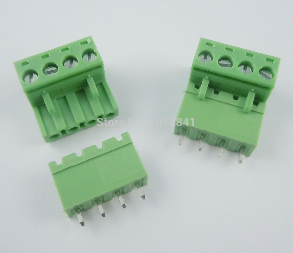 Per Lot 5.08mm Pitch 4 pin way Screw Pluggable Terminal Block Plug Connector L - Components professional supporting store