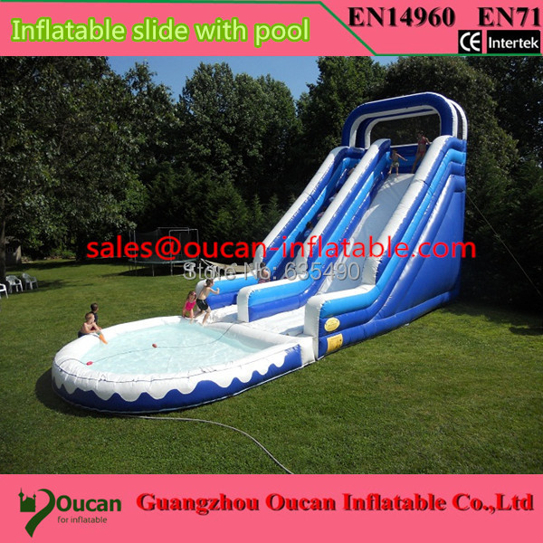 Inflatable Water Slides For Sale: Free Shipping 12x5x5m Giant Inflatable Water Slide For