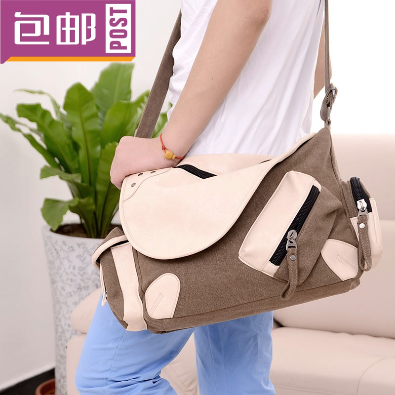 Duomaomao women's the trend of male single shoulder bag casual canvas messenger bag book(China (Mainland))
