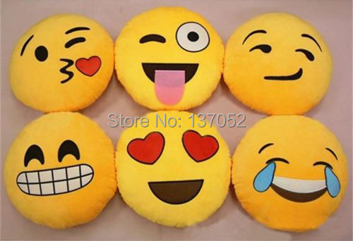 Hot new Emoji Smiley Emoticon Round Cushion home Pillow Stuffed Plush Soft Toy(China (Mainland))