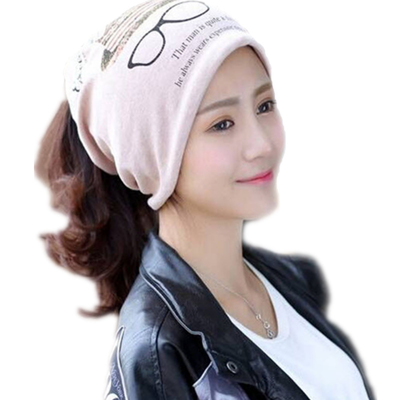 2016 New Arrival Spring Summer Hats Women Adult Unisex Casual Character Skullies Beanies Cotton Print Hats For Women Cap C45(China (Mainland))