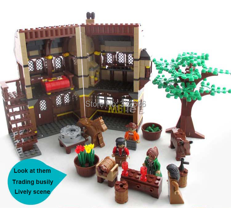Hot Toys Children Ausini Building Blocks Medieval Farm Assembling Model Kits Christmas Gift - C&T store