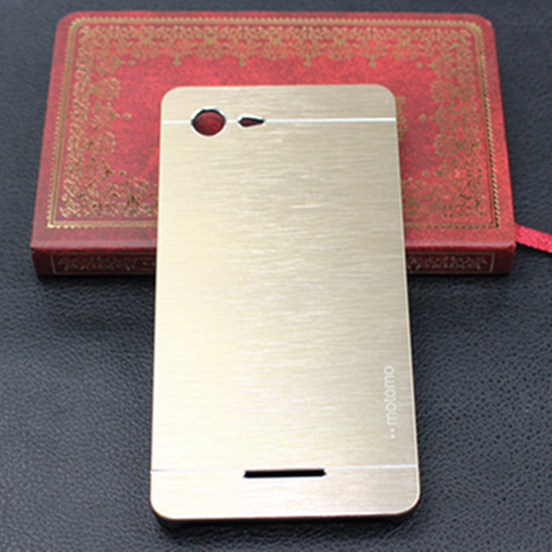 Luxury Ultra Thin Brushed Aluminum Brush Hard Metal Case for Sony Xperia E3 D2203 D2212 Case Cover Protective Mobile Phone Cases(China (Mainland))