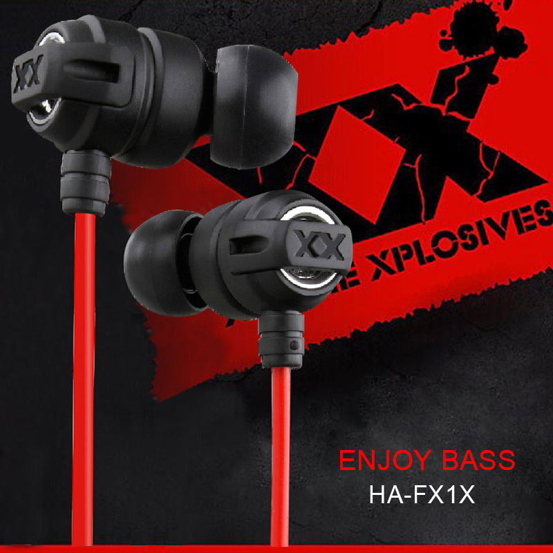 HA-FX1X HAFX1X Xtremed Xplosives Earphones In-Ear Deep bass Headphones Headset Gaming Auriculares For Sumsung IPhone mp3 mp4 PC(China (Mainland))