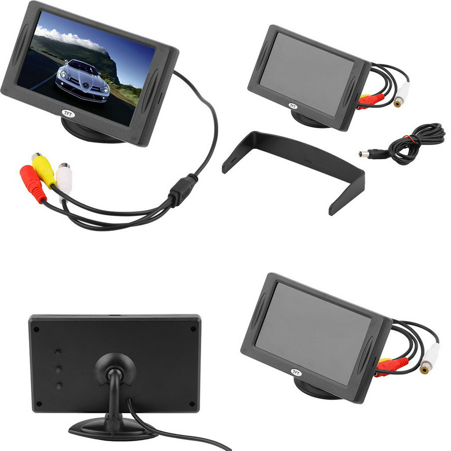 """New Classic Style 4.3"""" TFT LCD Rearview Car Monitors car styling for DVD GPS Reverse Backup Camera Vehicle driving accessories(China (Mainland))"""
